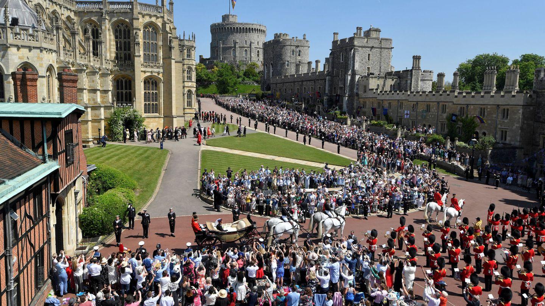 Vista del Castillo de Windsor, durante la boda de Meghan Markle y el príncipe Harry. (Reuters)