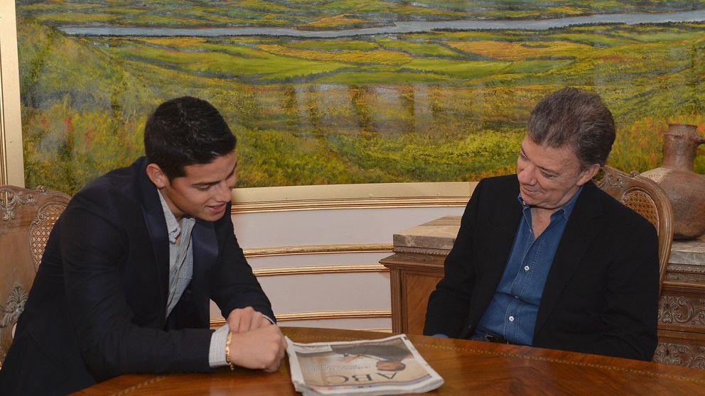 El presidente de Colombia habla de James con un imitador de Butragueño