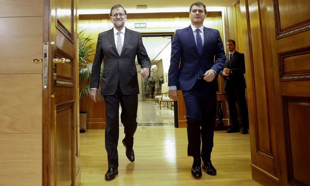 Foto: Rajoy y Rivera en una de sus última reuniones en el Congreso