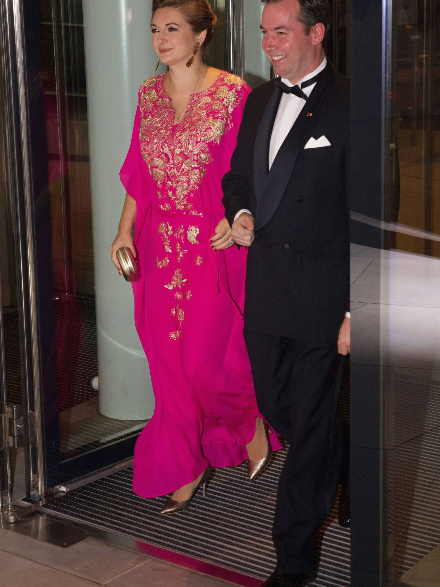 Stéphanie, con caftán rosa. (CP)