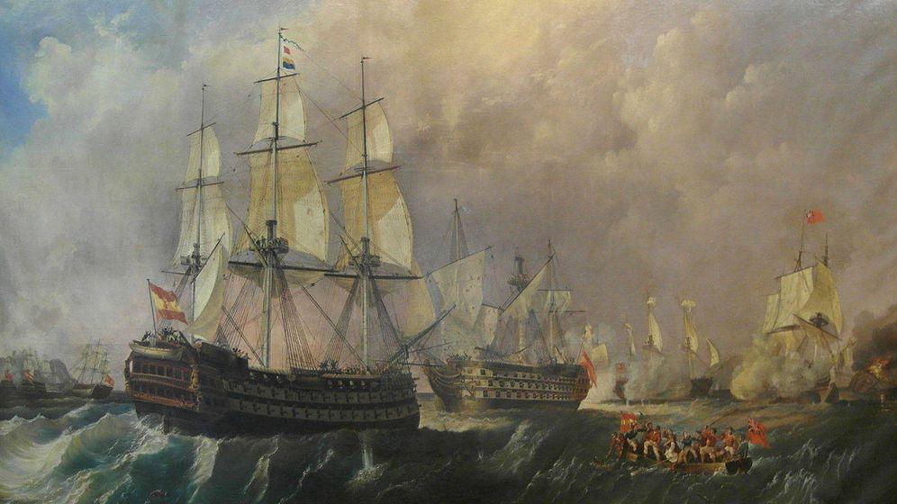 Foto: El rescate del Santísima Trinidad en la batalla del Cabo de San Vicente del 14 de febrero de 1797. (Antonio de Brugada, Wikipedia)
