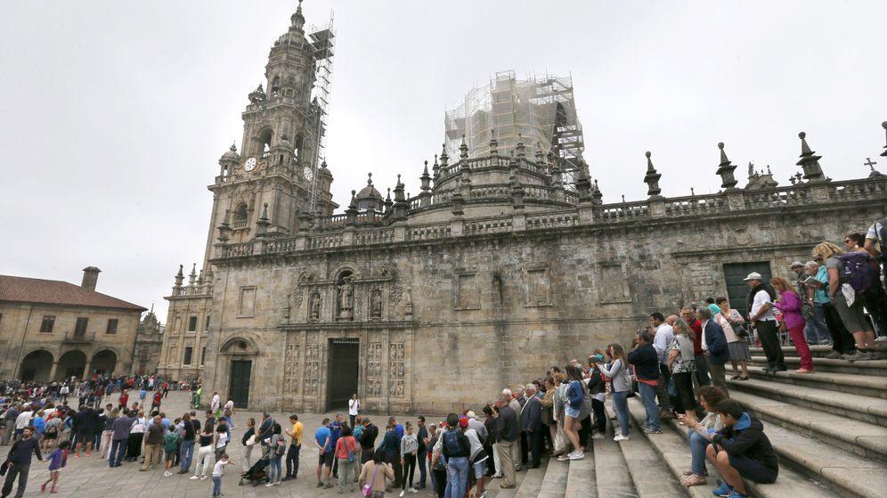 Foto: La Catedral de Santiago, destino final de los peregrinos (EFE/Lavandeira)