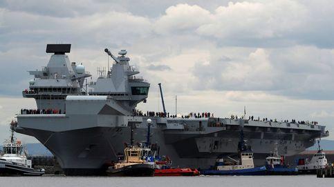 Zarpa el HMS Queen Elizabeth, el mayor portaaviones de la marina inglesa