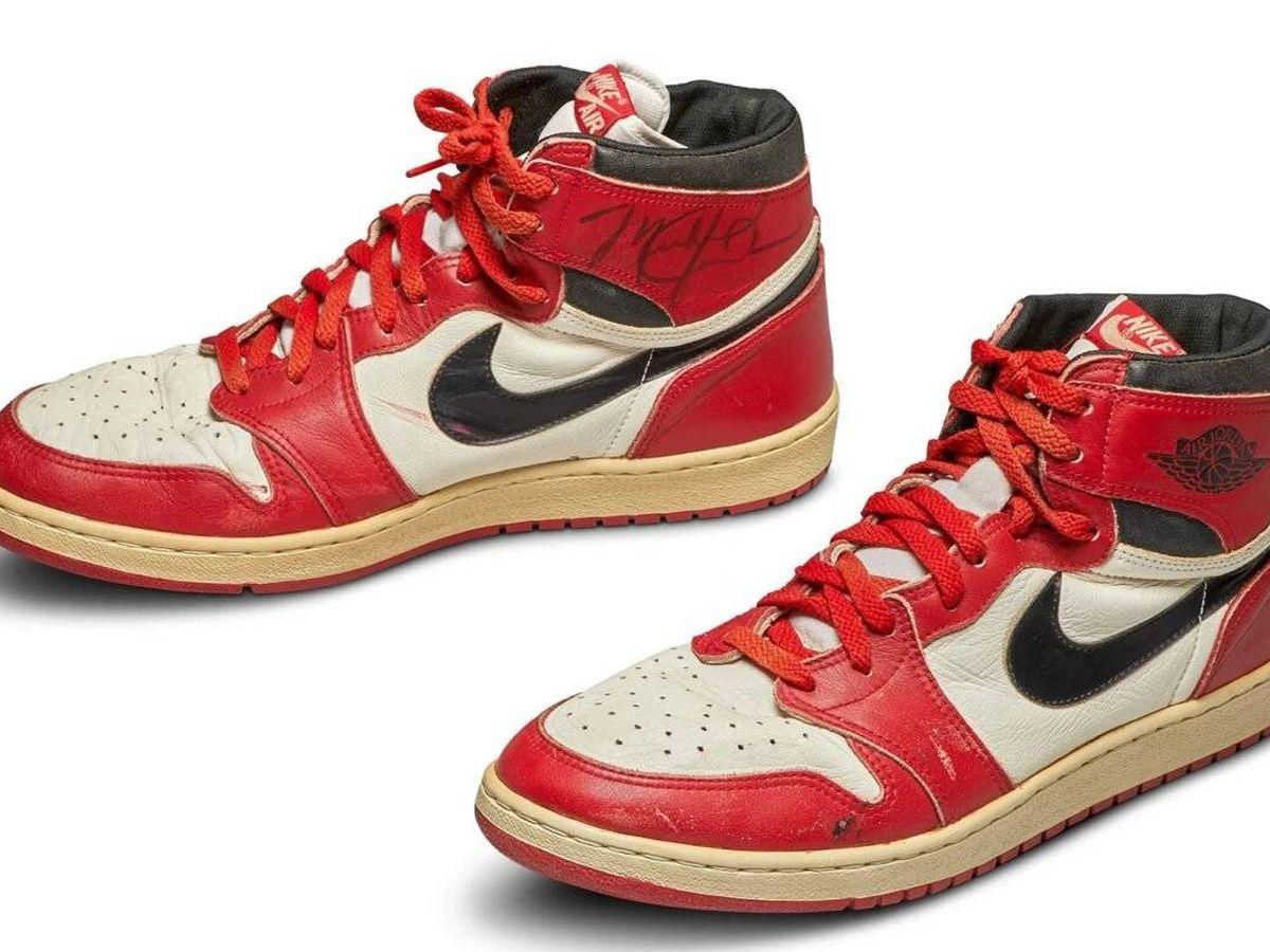 conjunción Arreglo progresivo  Unas Nike Air Jordan de 1985, récord en una subasta: 518.000 euros