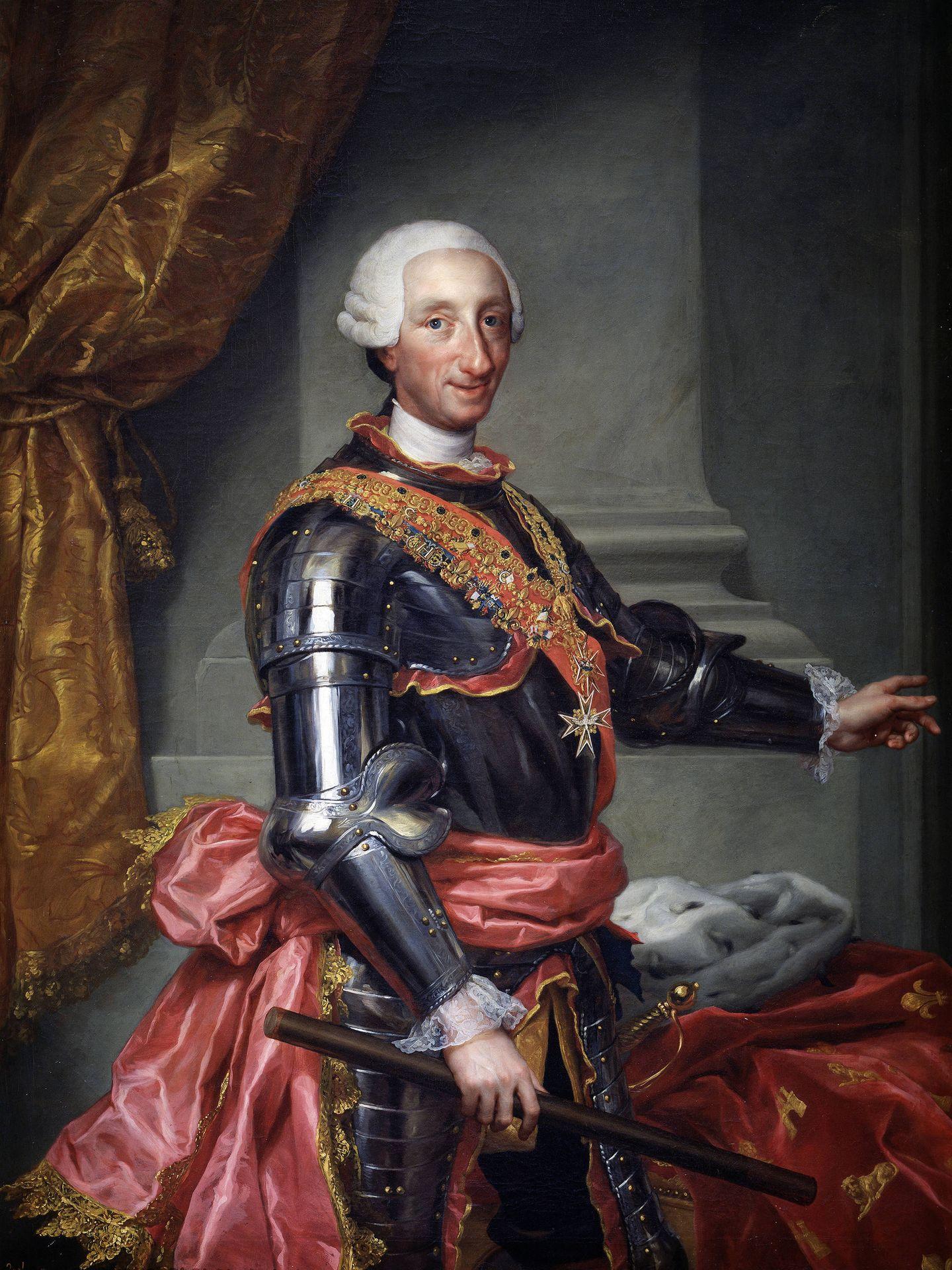 Retrato de Carlos III de Anton Raphael Mengs.