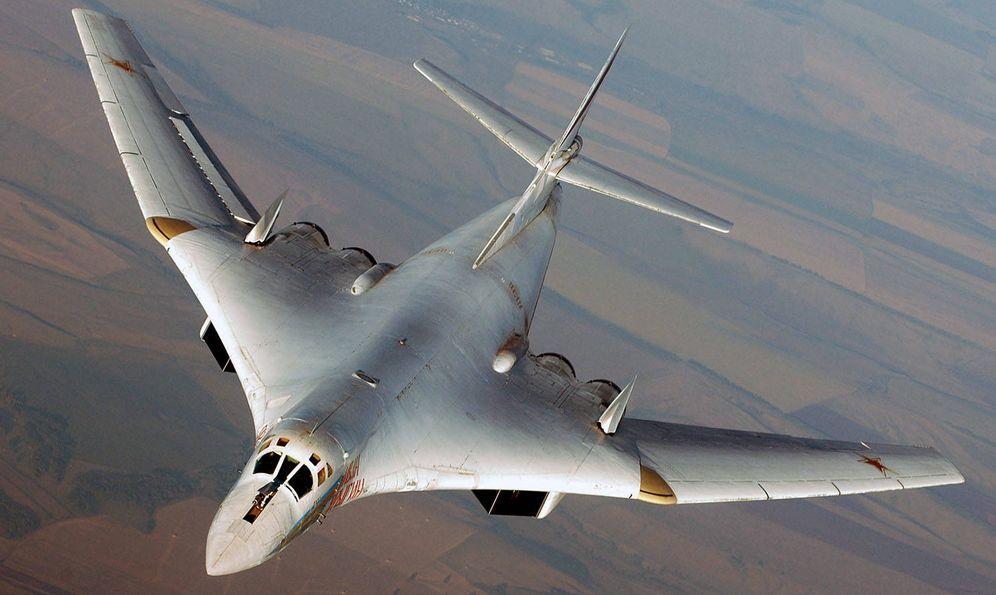 Foto: El Tupolev 160 Blackjack. Dos de sus unidades fueron hoy interceptadas por cazas españoles