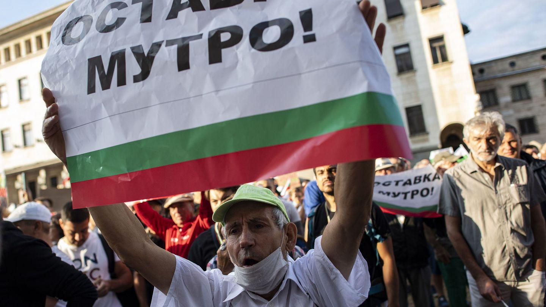 Protestas en Sofia (Bulgaria) el pasado verano pidiendo la dimisión de Borisov. (EFE)