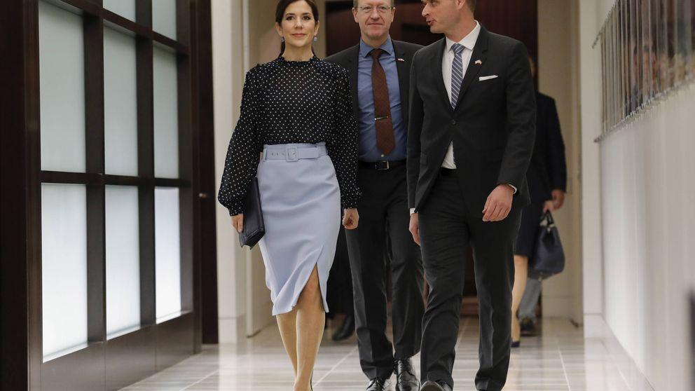 La falda de Hugo Boss que ya tienen Mary y Sofía Hellqvist: ¿se atreverá Letizia?