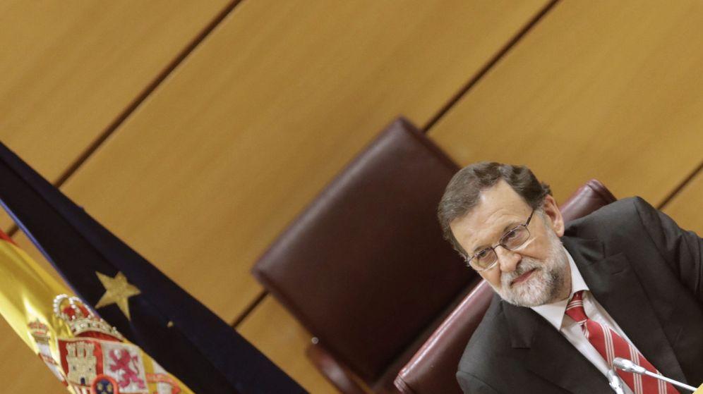 Foto: El presidente en funciones, Mariano Rajoy, durante la reunión. (Efe)