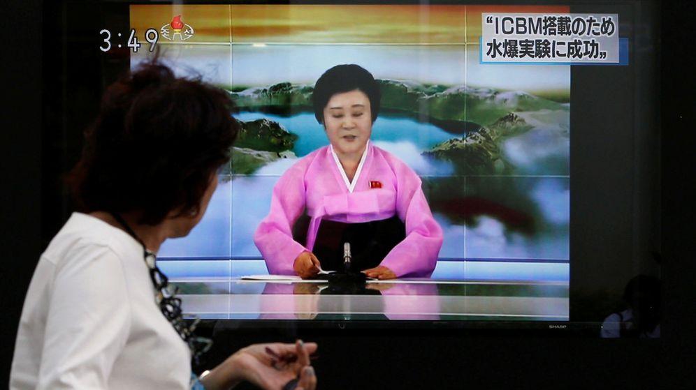 Foto: Ri Chun-hee anuncia el último ensayo militar de Corea del Norte este domingo. (Reuters)