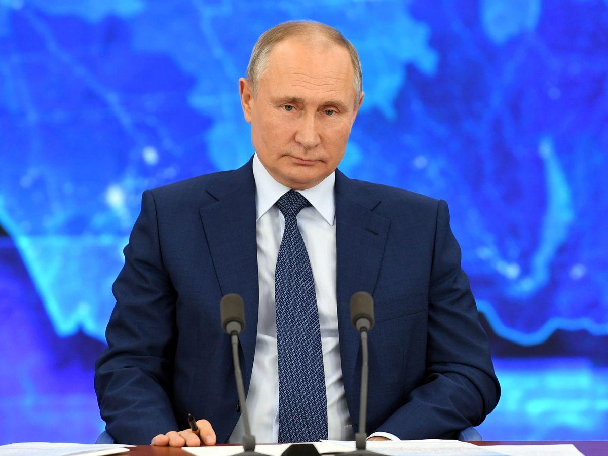 Foto: Presidente ruso Vladimir Putin en su conferencia de fin de año. (Reuters)