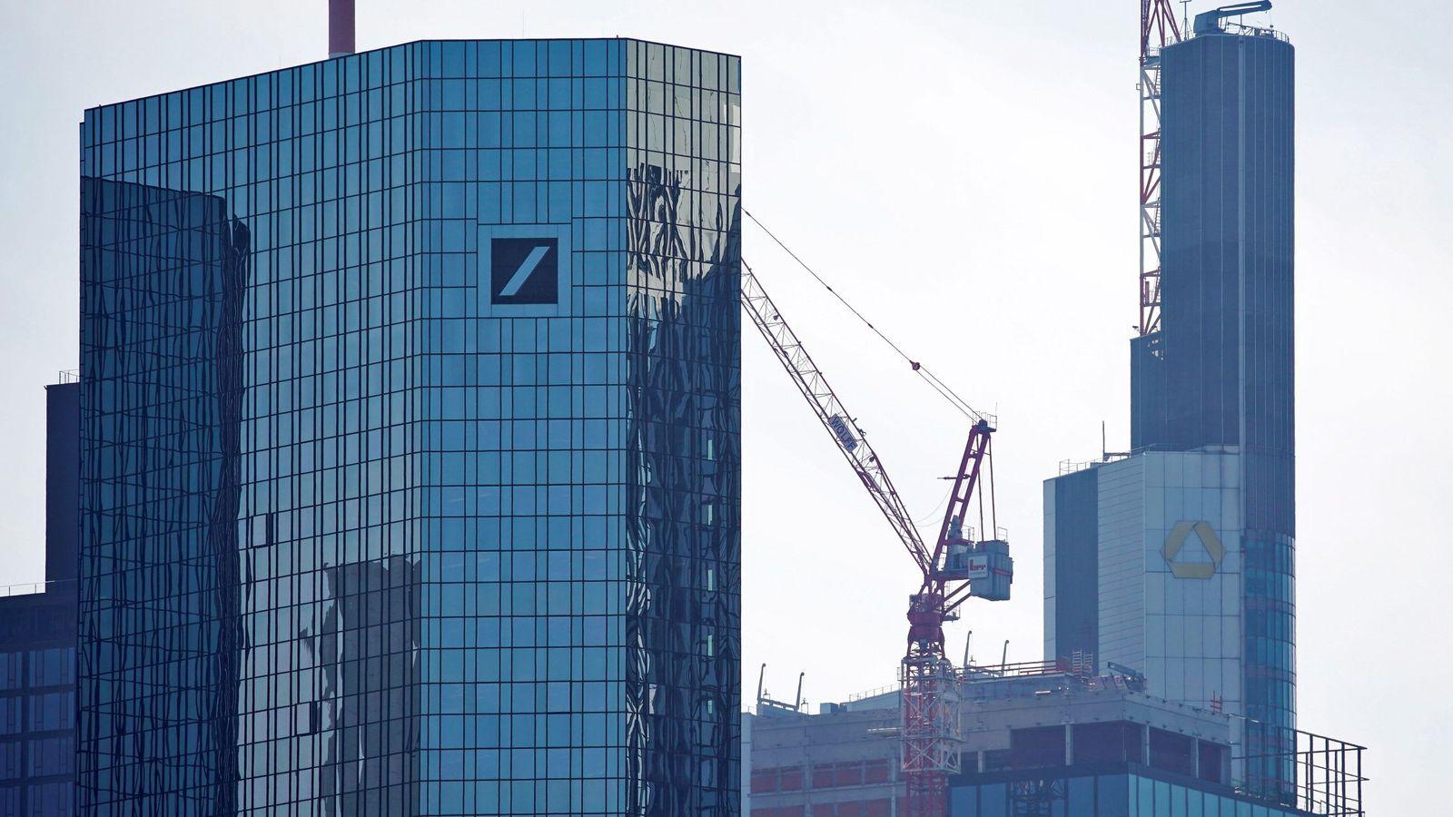 Foto: Edicios de Deutsche Bank y Commerzbank en Fráncfort. (EFE)