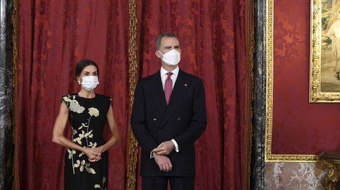 Felipe y Letizia, anfitriones en el Palacio Real para la cena con el presidente de Corea