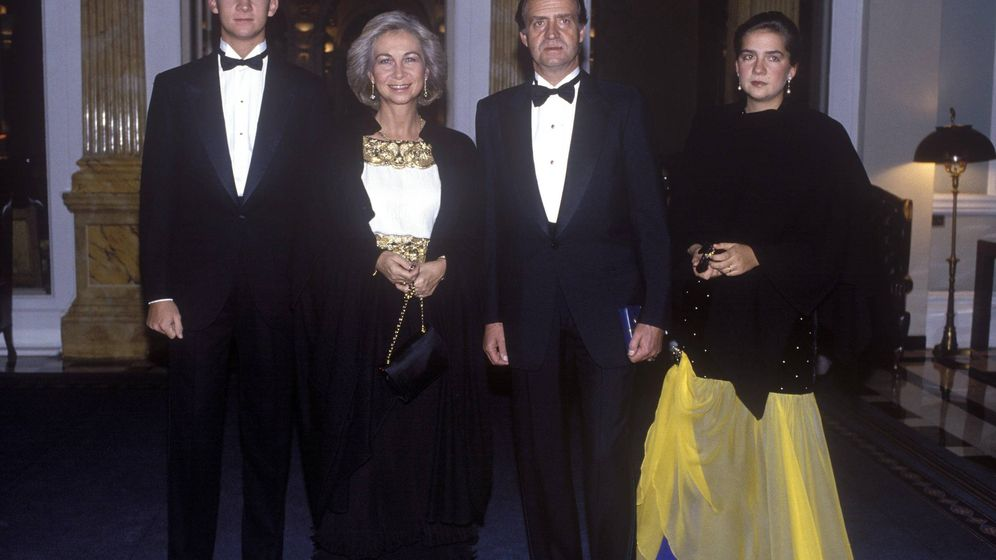 Foto: El príncipe Felipe, la reina Sofía, don Juan Carlos y la infanta Elena.(Cordon Press)