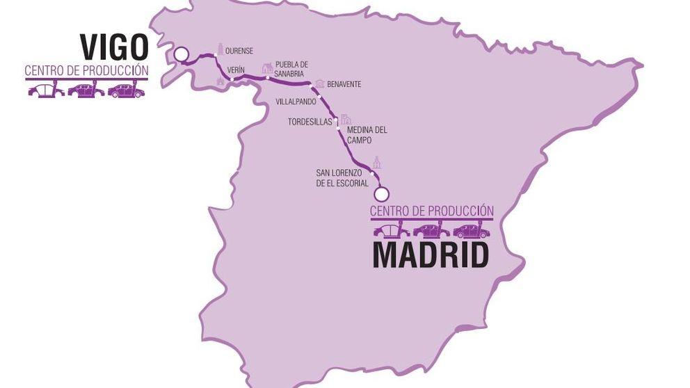 Un vehículo autónomo viaja sin conductor de Vigo a Madrid