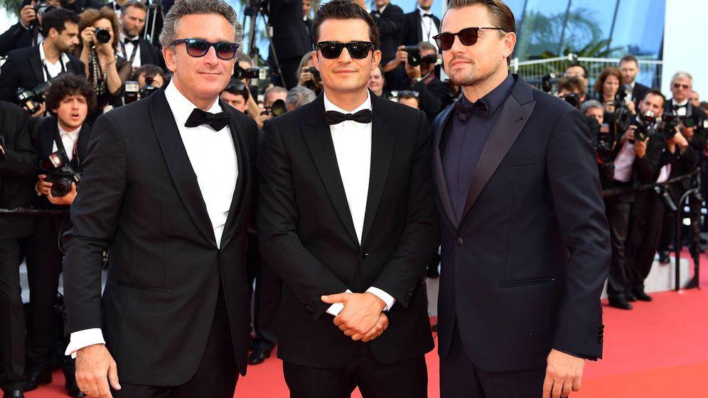 Foto: Agag junto a Bloom y DiCaprio. (Getty)