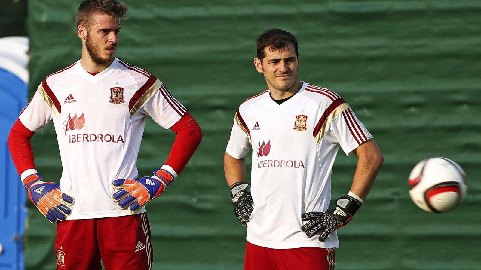 Foto: De Gea y Casillas, la semana pasada con la selección española (Efe)