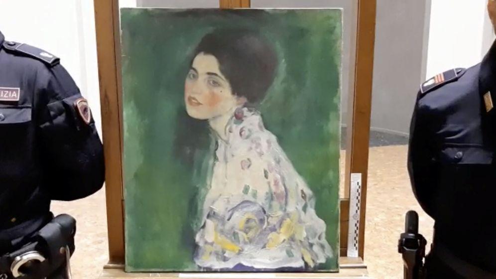 Foto: El cuadro robado 'Retrato de una dama', de Gustav Klimt. (Reuters)