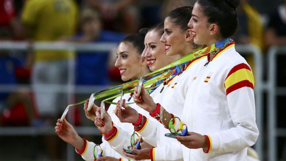 La chica brasileña que lloraba con la plata de la gimnasia rítmica española