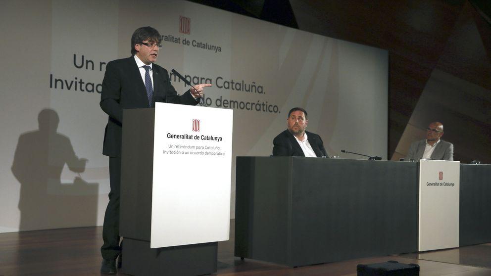 Puigdemont 'vende' el referéndum en el corazón de Madrid sin ponerle fecha