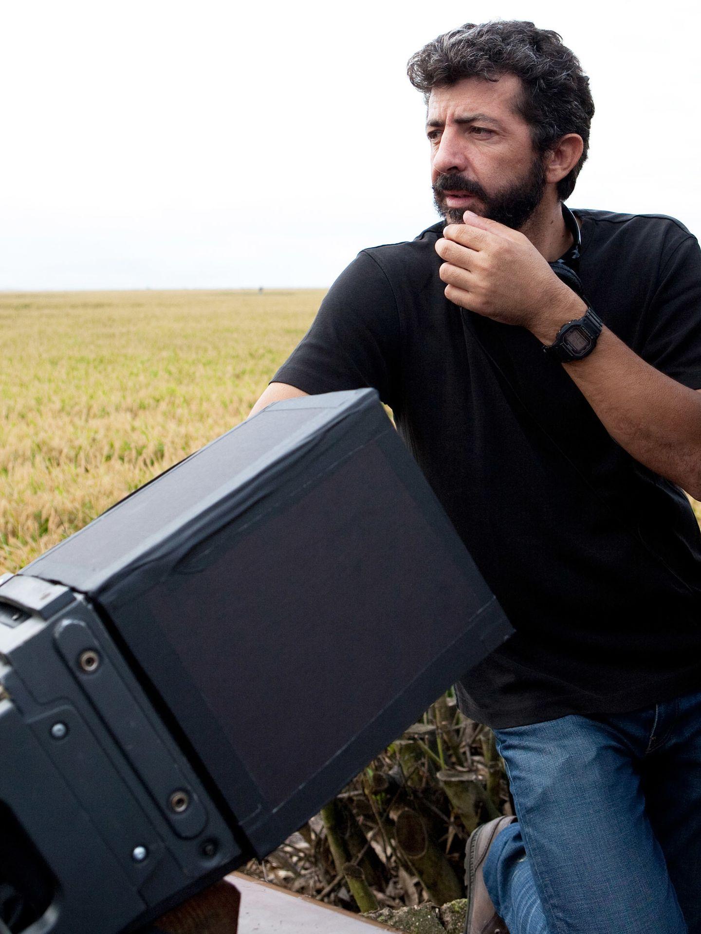 Alberto Rodríguez en el rodaje de 'La isla mínima'
