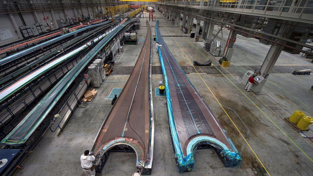 Foto: Fábrica de palas para aerogeneradores de Siemens Gamesa. (EFE)