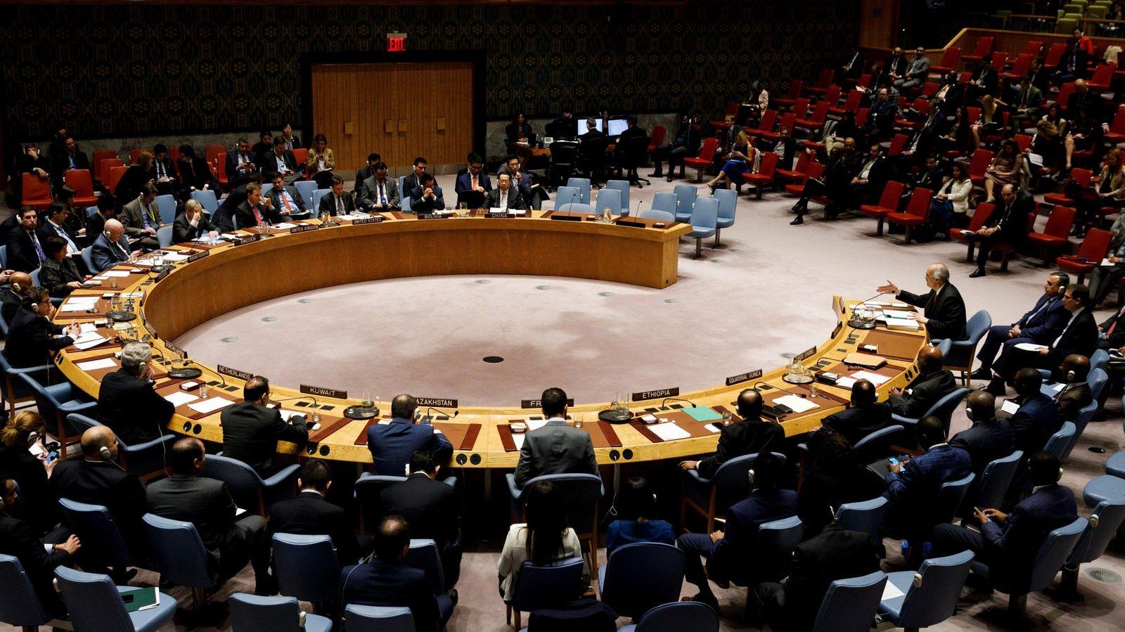 Foto: Reunión del Consejo de Seguridad de la ONU sobre Siria. (EFE)