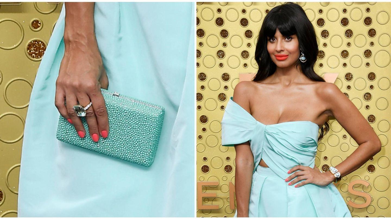 Jameela Jamil, en los Premios Emmy. (Getty)