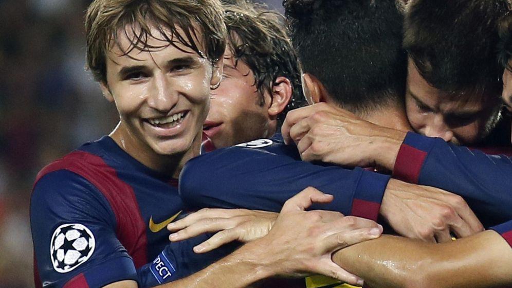 Foto: Samper celebra un gol del Barça en la pasada Liga de Campeones (Reuters)
