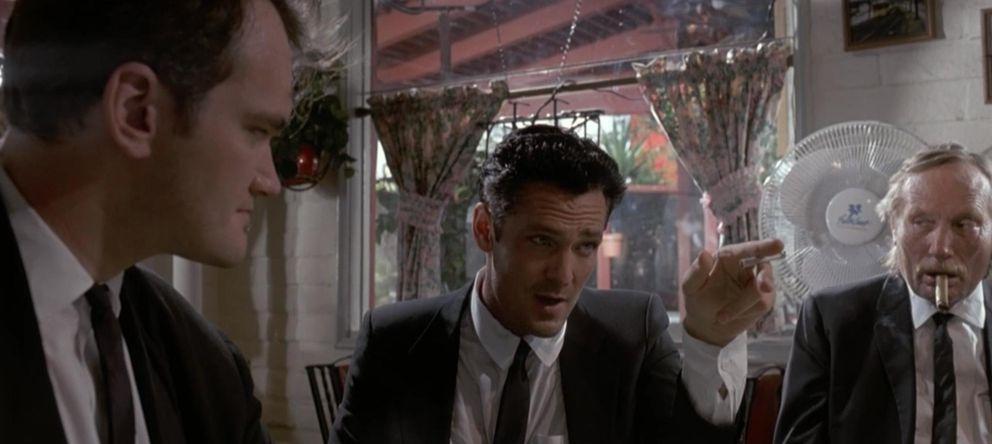 Foto: A la izquierda, Quentin Tarantino; a la derecha, Edward Bunker