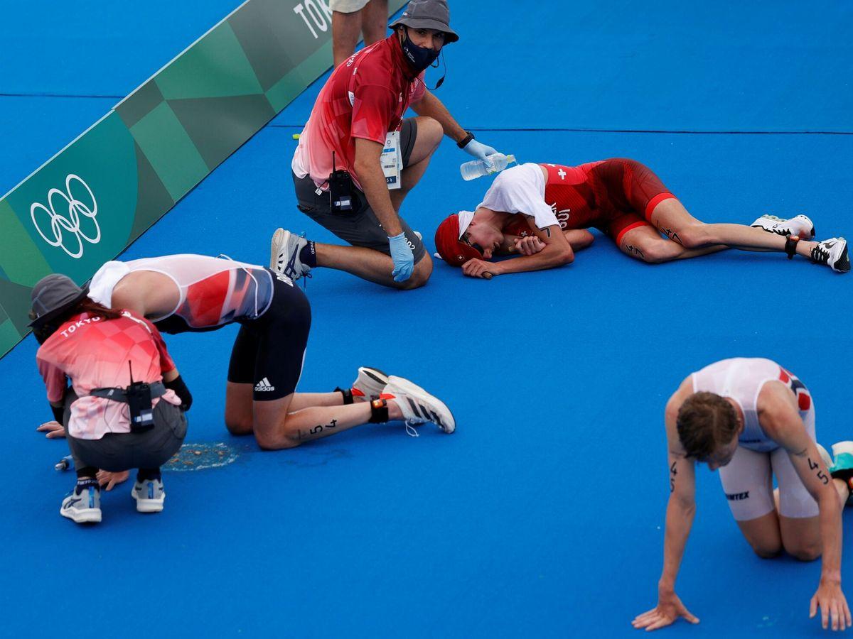 Foto: Meta en el triatlón de Tokio 2020. (EFE)