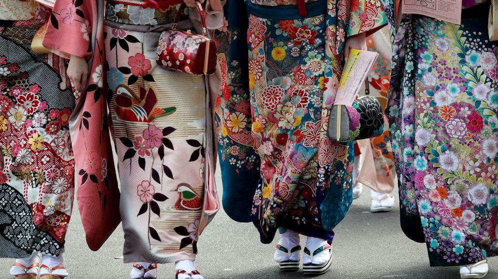 Foto: El kimono, pura explosión primaveral. (Reuters)