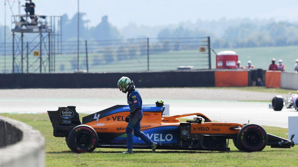 Foto: Lando Norris destrozó su McLaren en los Libres 2. (Reuters)