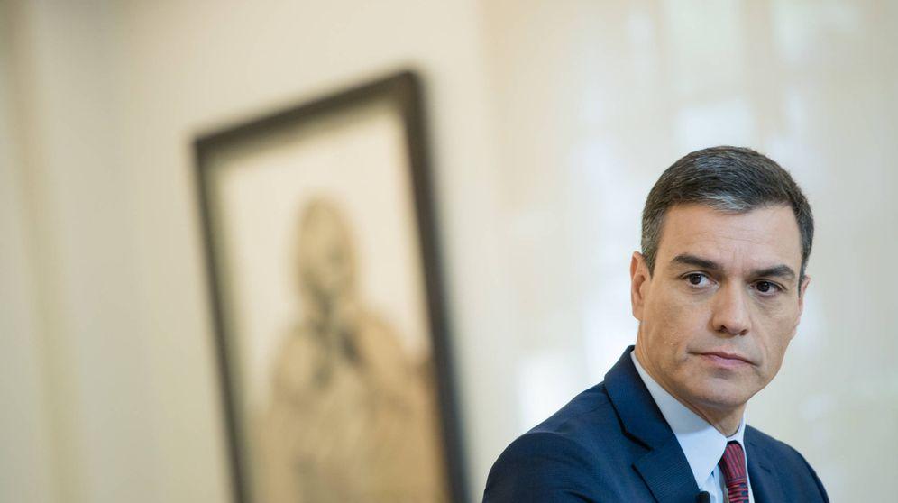 Foto: Pedro Sánchez, durante la entrevista con El Confidencial, este 2 de octubre de 2019 en el Palacio de la Moncloa. (Jorge Álvaro Manzano)