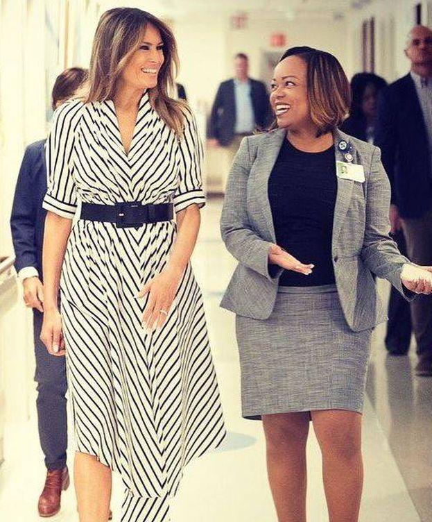 Foto:  Melania Trump visita un hospital infantil en Florida. (IG)