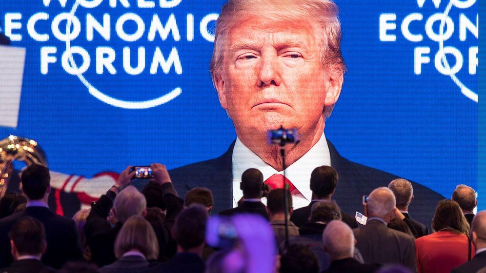 Foto: Donald Trump, en el Foro de Davos. (EFE)