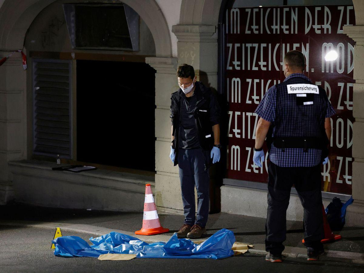 Foto: Escenario del posible atentado terrorista en Wurzburgo (Reuters)
