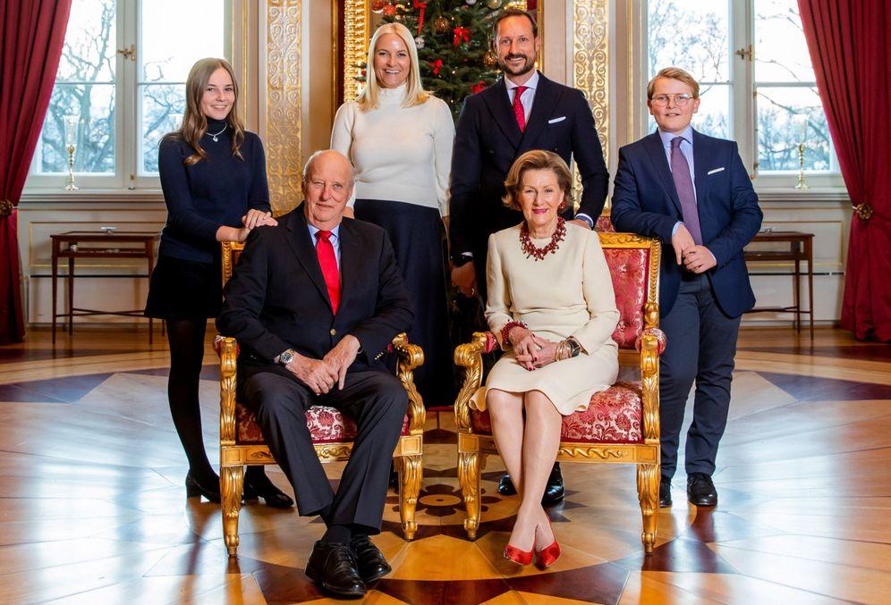Foto: Foto oficial de navidad de la familia real noruega (EFE)