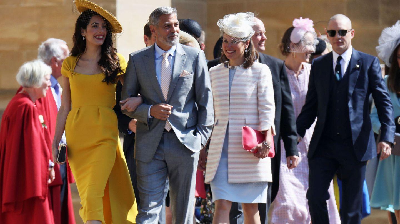 Los Clooney, en la boda de Meghan y Harry. (Reuters)
