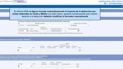 Renta 2018-2019: cómo deducirse de rentas obtenidas en Ceuta y Melilla, se resida o no allí