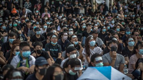 Manifestación de estudiantes en Hong Kong
