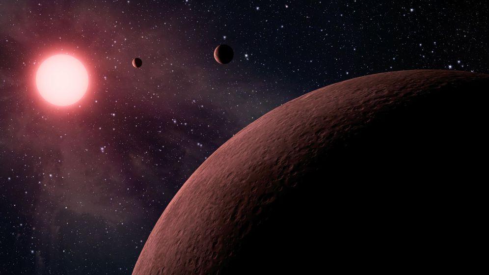 Foto: Imagen artística sin fecha cedida por la NASA que muestra un sistema planetario.