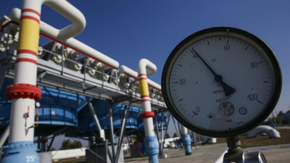 Foto: ista de un medidor de presión en el amacenamiento de gas en Mryn, a 130 kilómetros de Kiev, Ucrania (EFE)
