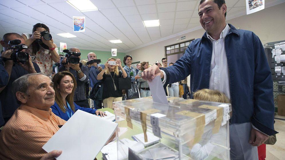 Foto: El presidente del Partido Popular andaluz, Juanma Moreno. (EFE)