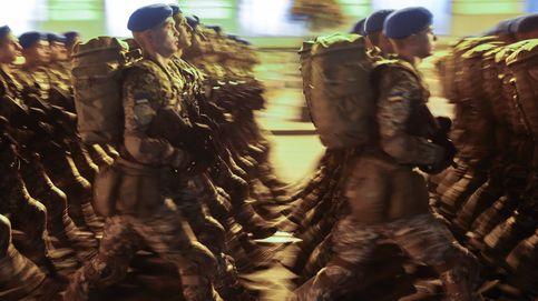 Ensayo para desfile militar en Kiev