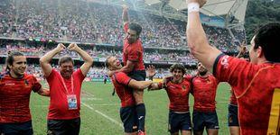 Post de España obra otro 'milagro' en rugby y asciende a la élite del Sevens