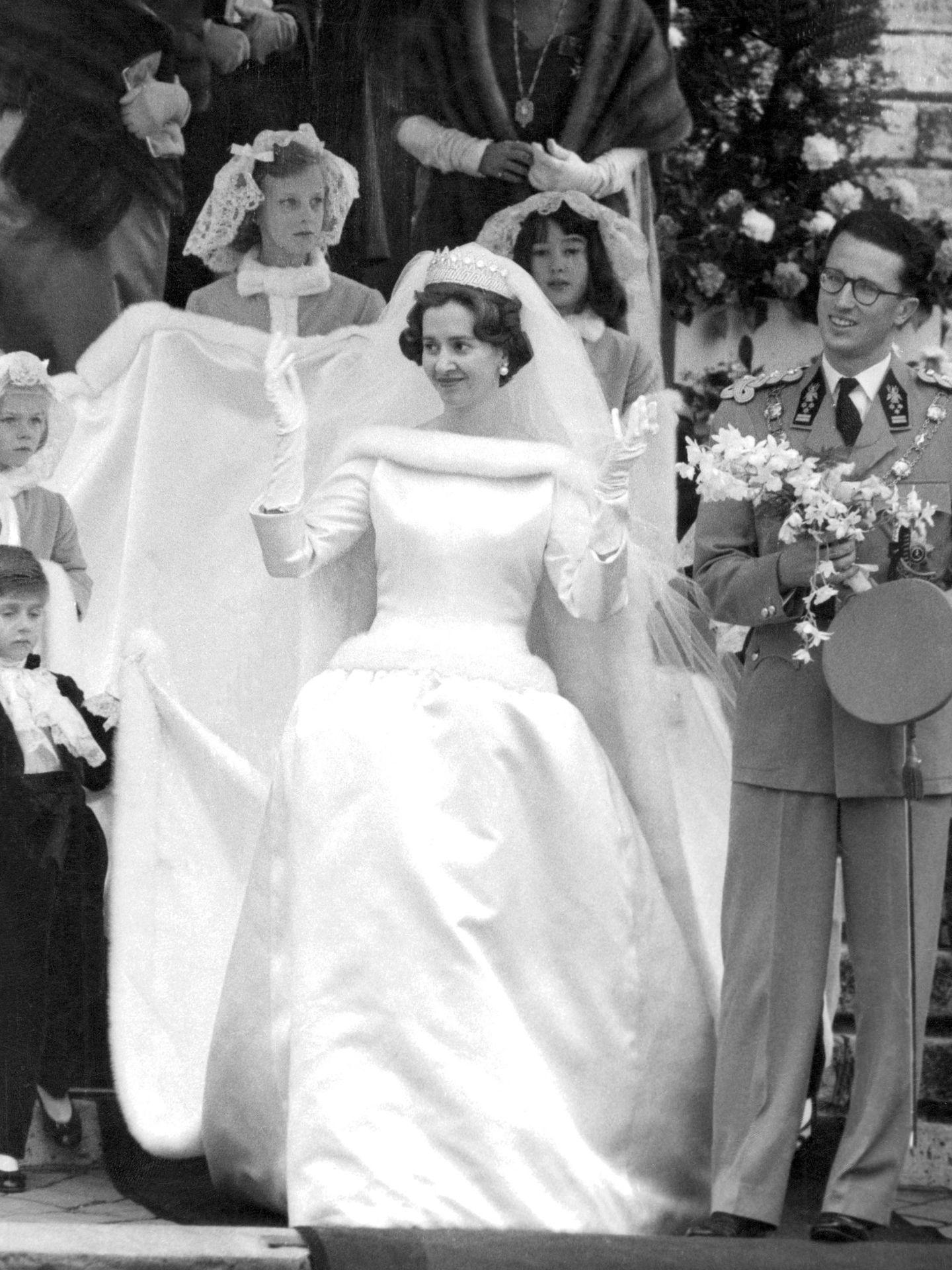 Los reyes Balduino y Fabiola, el día de su boda. (EFE)