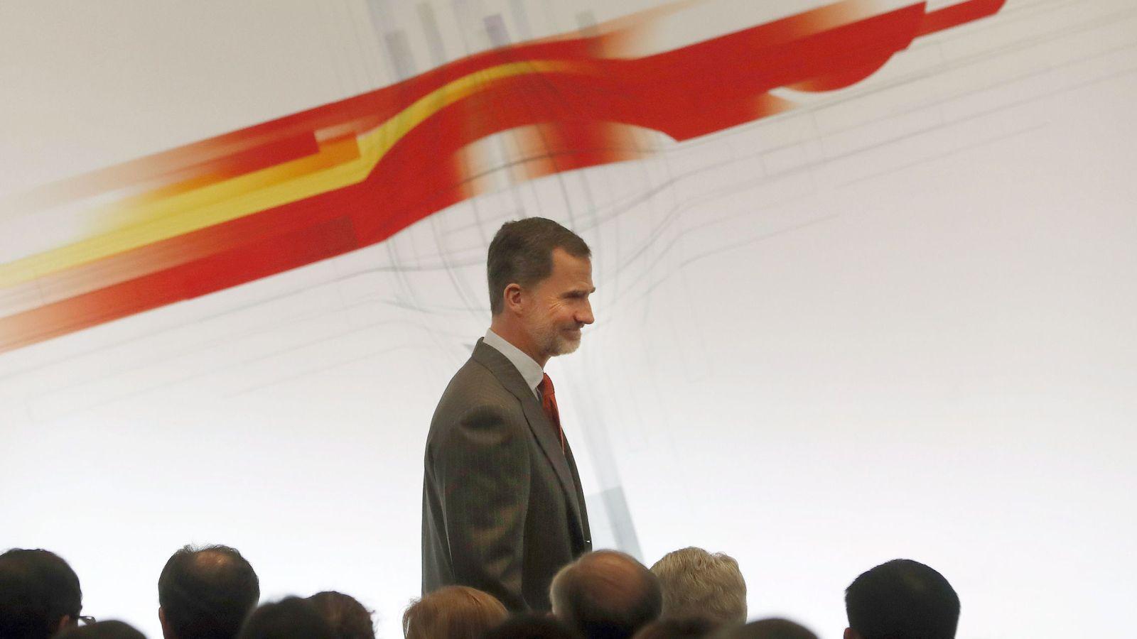 Foto: El rey Felipe, durante una de sus intervenciones en el viaje de Estado a Japón el pasado mes de abril. (EFE)