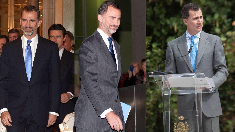 El Rey y su inseparable corbata azul.  (Getty / Cordon Press)