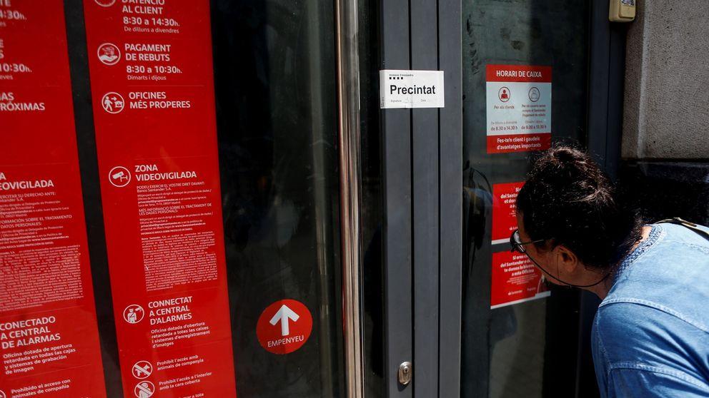 Banco Santander cierra hoy otras 200 oficinas por el ERE